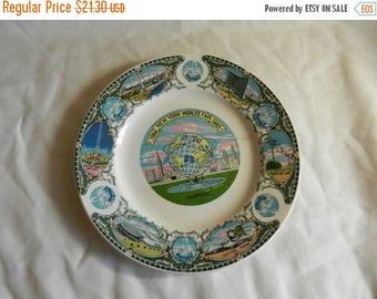 Summer Sale Vintage 1965 New York Worlds Fair Plate