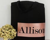 Personalized Tote Rose Gold Gift for Bridesmaid, Bride Tribe Gift Bachelorette Party  Gift, Bridal Party Tote Gift Custom, Team Bride Squad