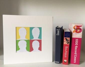 Blur - fan art handmade papercut