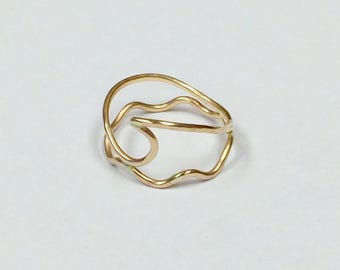 Gold Fill Wave Ring