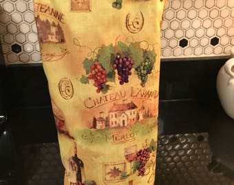 Wine Themed Fabric Tote