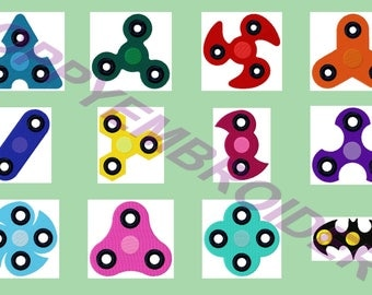 SPINNER fidget Design for Embroidery machine /  motifs pour broderie machine / instant download