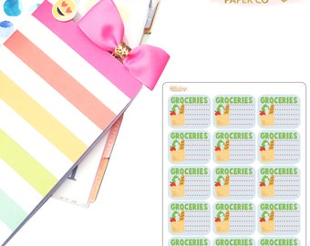 Mini Grocery List Planner Stickers