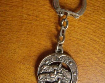 "Stitch - ""the third"" - horse collector-french Vintage keychain"