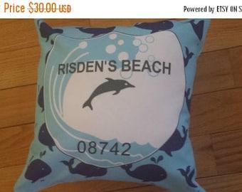 ON SALE Risden's Beach Badge Pillow