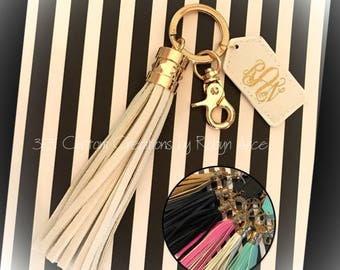 Monogrammed Tassel Key Chain - Monogrammed Tassel KeyChain - Tassel Key Chain - Tassel Keychain - Monogram Key Chain - Monogram Keychain