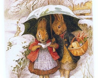 """mister and miss bunny by potter counted Cross Stitch Pattern point de croix embroidery needlework - 15.71"""" x 20.79"""" L1191"""