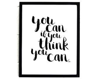 Motivational Poster /Inspiration Wall Decor /Typography Poster /Inspiration Wall Art /Dorm Decor /Inspiration Teen Room Decor /Office Decor