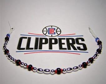 Clippers Bracelet, Morse Code Bracelet, Basketball Bracelet