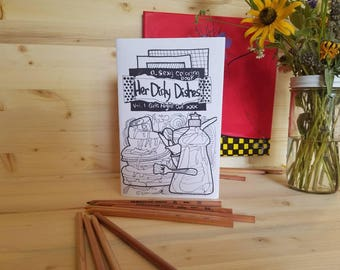 Her Dirty Dishes Coloring Book/ Vol 1 Girls Night Out Coloring Book/ Adult Coloring Book/ Porn Coloring Book/ Sexy Colouring Book/ Porn Art