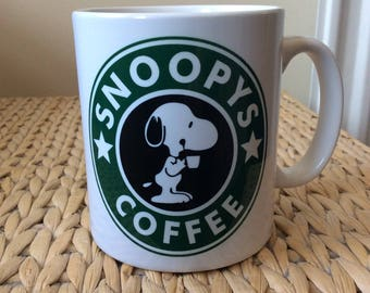 Snoopy Inspired Coffee Mug