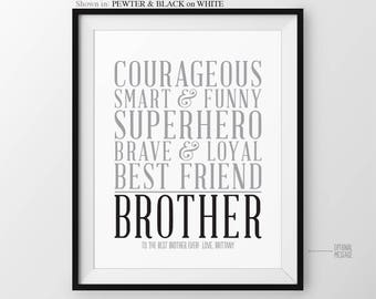 Christmas Gift for Brother Personalized Gift for Brother Birthday Gift from Sister Baby Brother Gift for Big Brother Gift from Brother
