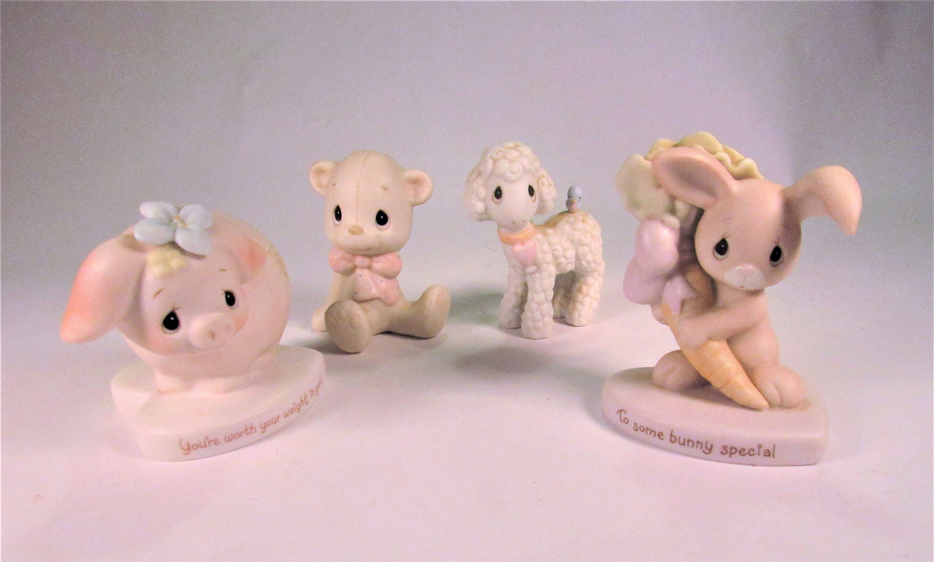 Vintage Lot Of Early 1982 4 Precious Moments Johnathon And