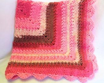 Baby Blanket - Crochet Blanket - Bright Pink Baby Blanket - Crib Blanket - Baby Gift - Baby Shower Gift - Crochet Baby Afghan