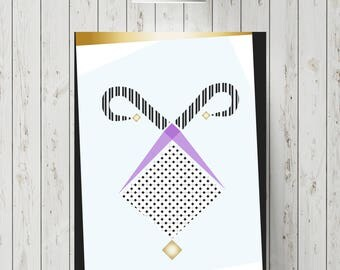 Abstract fool poster
