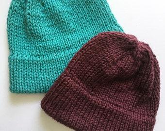 Double brim knit hat