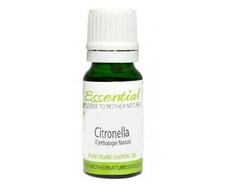 Citronella Essential Oil (Organic) 10 ml and 100 ml Pure Natural Aromatherapy