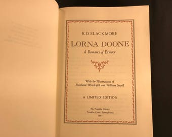 Lorna Doone By R. D. Blackmore 1985 Limited Edition
