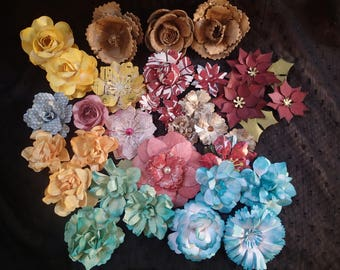 Handmade flower from cardstock, egg cartons and magazines