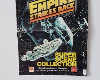 Vintage Star Wars The Empire Strikes Back Super Scene Collection Promotional Booklet Poster  from Burger King RARE