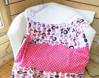 Customizable custom baby blanket in cotton and soft or fleece