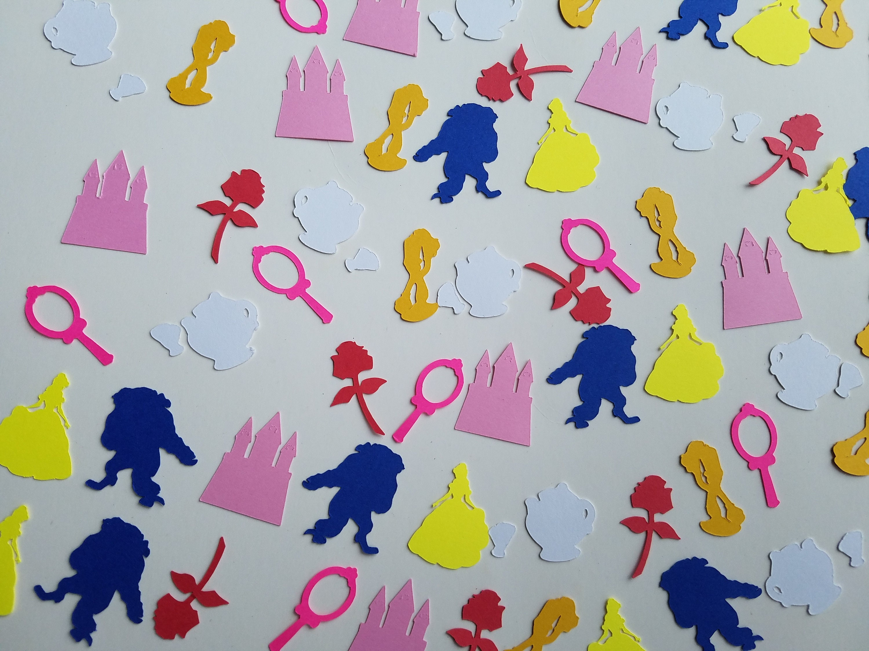 Mrs potts chip christmas decoration - Beauty And The Beast Confetti Set Of 160 Handmade Belle Beast