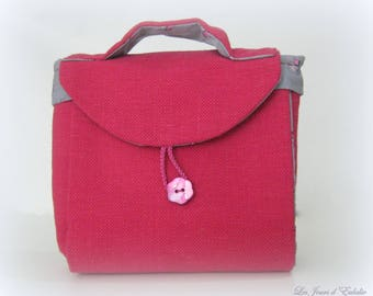 "Bag in "" the teatime "" bouquets of roses and fuchsia Métis."