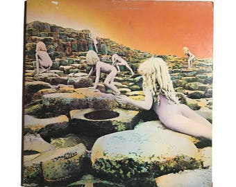 "Led Zeppelin, ""Houses of the Holy"",vinyl record album, classic rock LP, 1970s, Jimmy Page, Robert Plant, the ocean, dancing days, no quarter"
