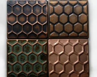 Honey comb design, honey comb tiles, kitchen metal tiles