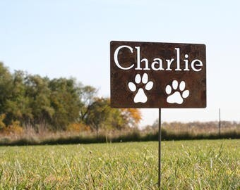 Metal Pet Memorial Sign, Memorial Garden Stake, Memorial Sign, Pet Memorial,  Pet