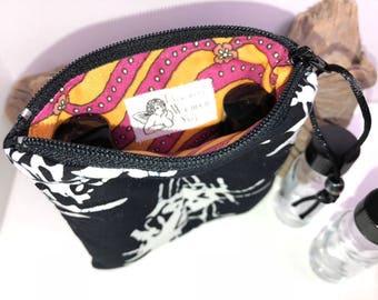 Black Essential Oil Case, Essential Oil Pouch, Vape Juice Bag, 2-3 Bottle Young Living Oil Bag, Doterra Essential Oil Travel Case