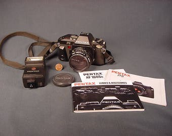 Vintage Old Collectible * Pentax PS SLR Film Camera * kit