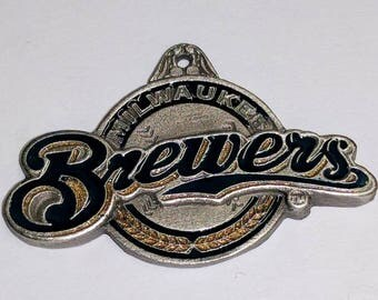 Milwaukee Brewers pewter pendant