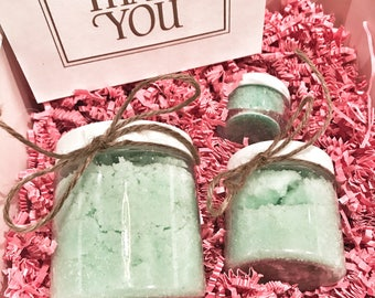 Spa Gift Set For Any Occasion - Includes 3 of our items - 2 body polishes 1 lip scrub - Mix & Match!