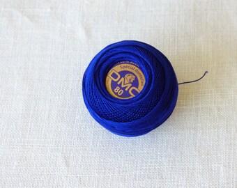 Cotton lace collar blue n80 820 DMC