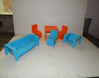Vintage Barbie Dream House Furniture From 1972 Edition Mattel Lot of 6 pieces