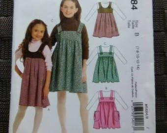 Girl's Dress Pattern McCalls M5684 Sizes 7 8 10 12 14 Easy Stitch 'n Save
