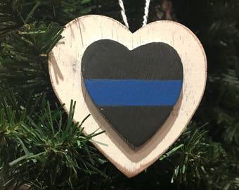 Thin Blue Line Ornament