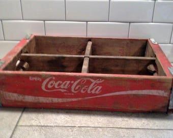 Vintage Coca Cola Crate, Soda Crate, Coke Crate, Wooden Box, Wooden Crate Decor