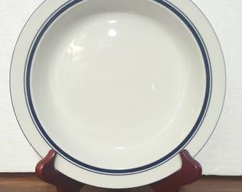Vintage DANSK *10 Available Chistianhavn Bistro Ceramic Bowls; White Blue Soup Salad Cereal/ Minimalist Mod Home Kitchen Dine Niel Refsgaard