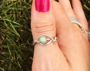Spinner Ring, Gemstone Ring, adjustable ring, Worry Ring, Anxiety Ring, Stress Ring, Meditation Ring