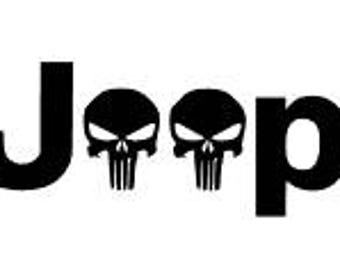 Skull Jeep Decal