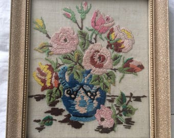 Pretty Floral Embriodered Picture