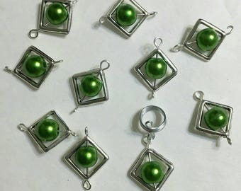 Wholesale Loc Jewelry Pearly Green