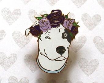 Dog Enamel Pin, Enamel Pins, Hard Enamel Pin, Dog Lapel Pin, Dog Brooch, Cute Enamel Pin, Valentines Day, Valentines Day Gift