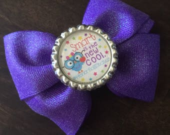Back to School owl bow