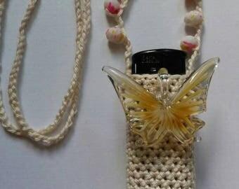 Popsicles & Butterflies. Handmade crochet lightercozy.