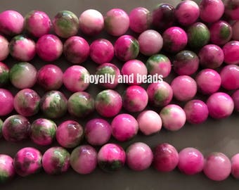Pink and green beads