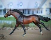 Custom Beyer Model Horse Stablemate Scale Dappled Bay Throroughbred Sport Horse Mare