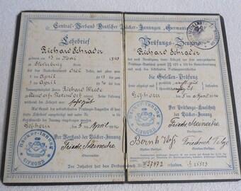 Old Journeyman letter-Germania Brief-Baker-Gifhorn 1916-old apprentice letter